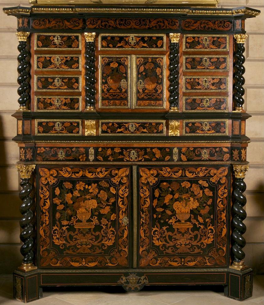 A marquetry cabinet, circa 1840.