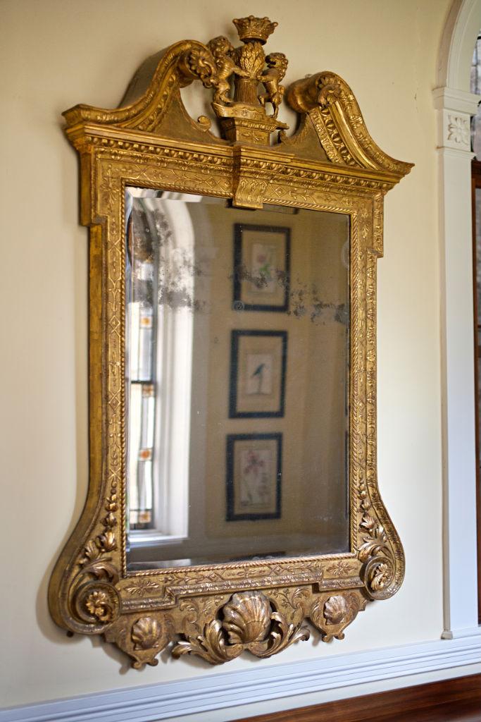 A giltwood mirror circa 1735.