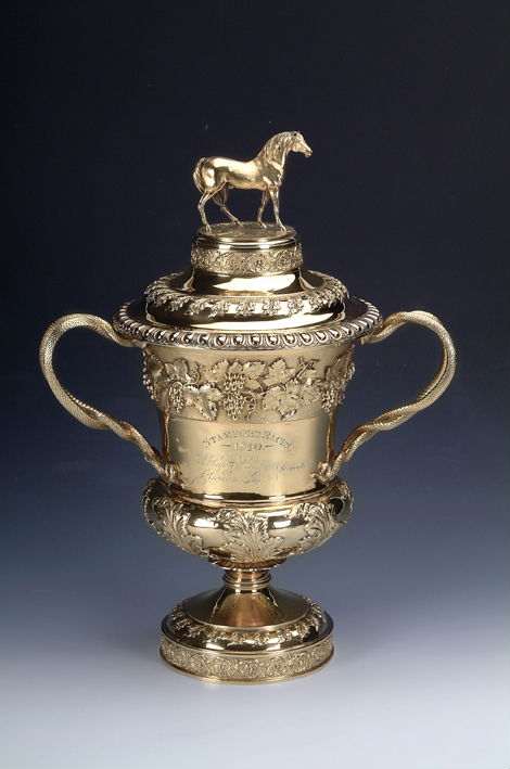 A George III silver-gilt cup and cover, R. Emes and E. Barnard, London, 1819.