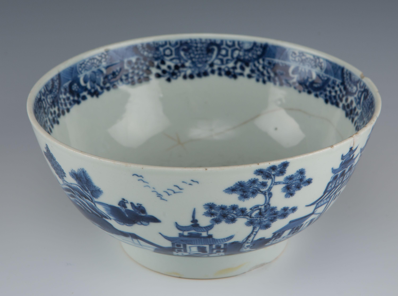 A blue and white bowl, Qianlong, (1736-1795).