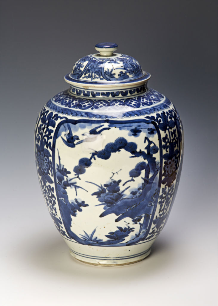 An Arita jar and cover, late 17th Century.