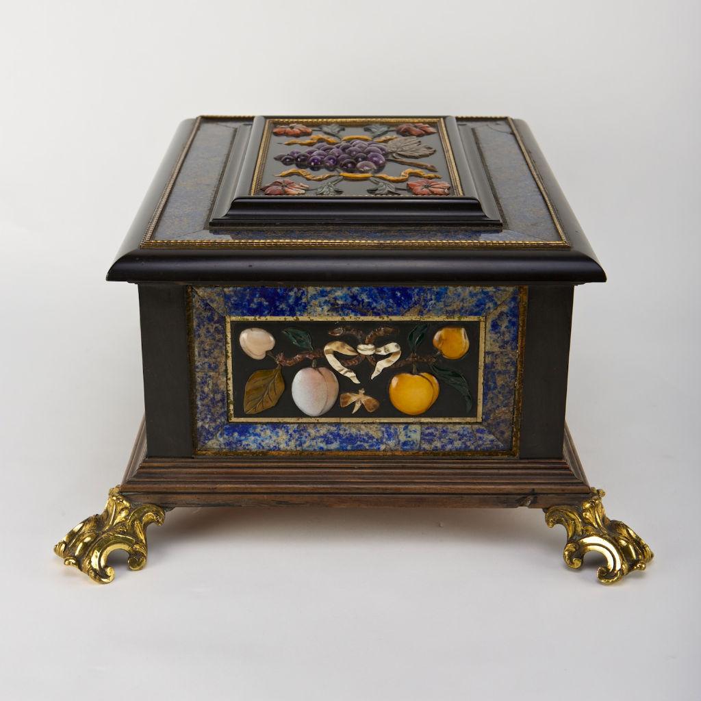 A Florentine ebony casket, late 17th Century.