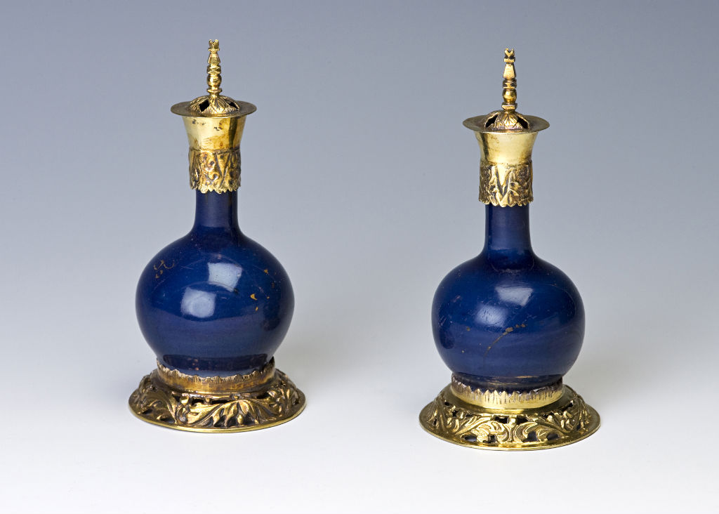 A pair of  small bottles, probably Transitional, third quarter 17th Century.