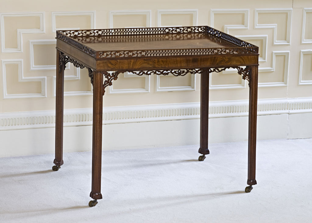 A George III mahogany silver table, circa 1765.