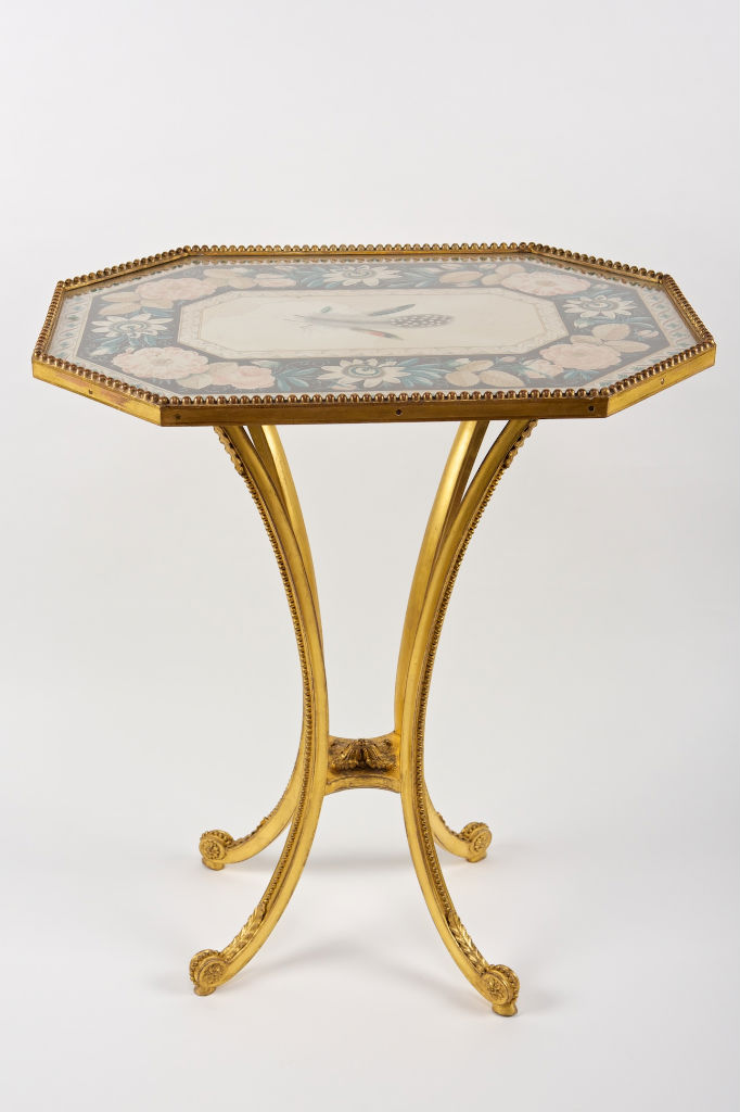 A pair of George III giltwood tables, circa 1780.
