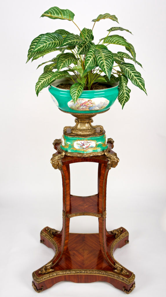 A pair of Victorian kingwood and gilt-metal-mounted stands, circa 1860.