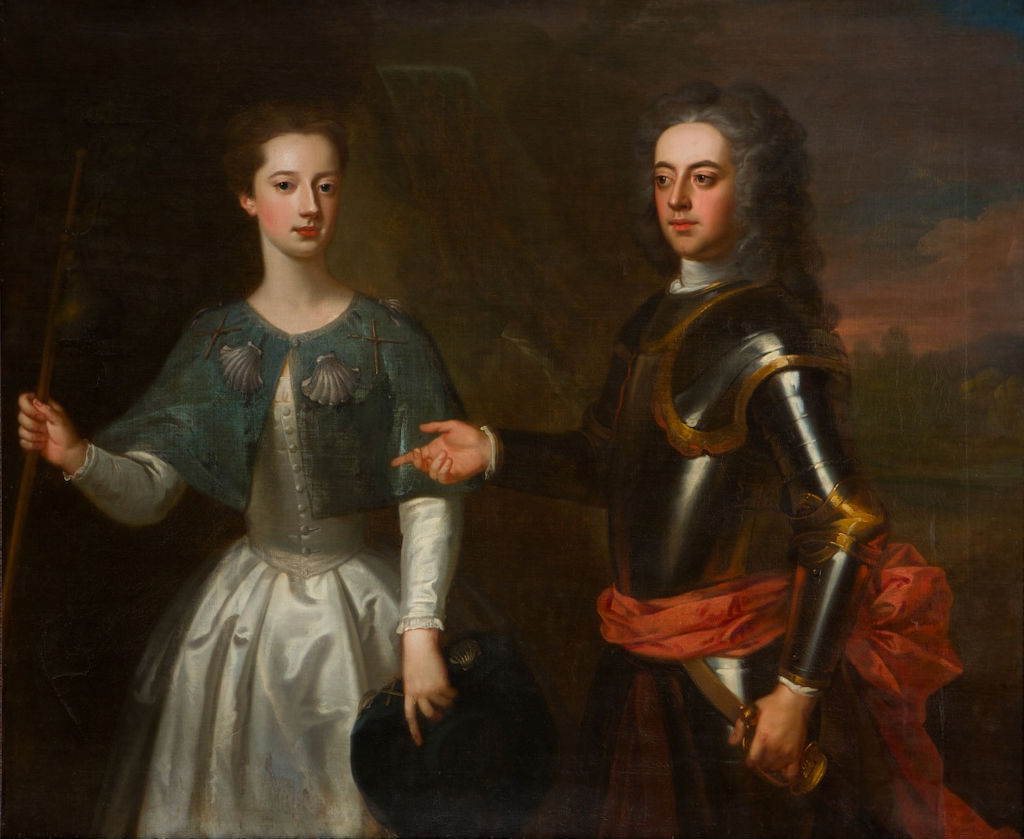 Portrait of Anna Maria Mordaunt and her brother Charles Mordaunt, Enoch Seeman, (1694-1745).