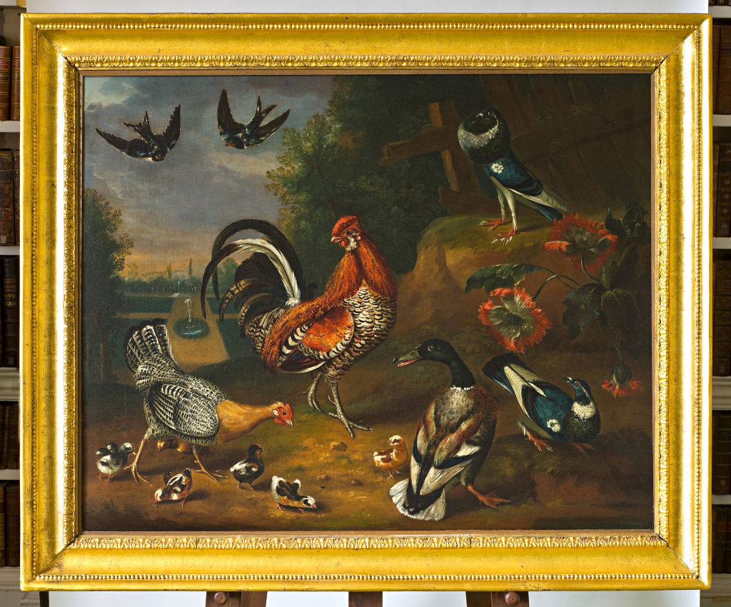 Farmyard Poultry with other Fowl and Birds in a Park Setting, Peter Paillou Sen., (c.1720-c.1790).