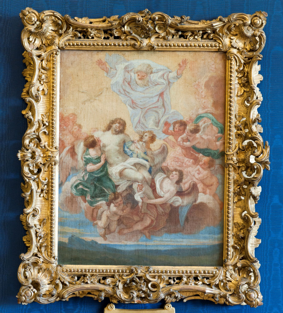 Christ Borne Aloft, Giovanni Battista Gaulli called Il Baciccio (1639-1709).