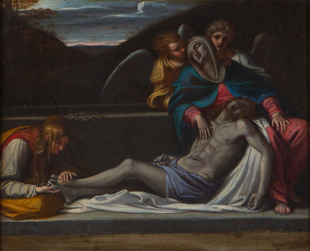 The Mourning over the Dead Christ, Follower of Annibale Carracci (1560-1609).