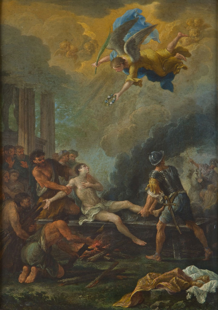 The Martyrdom of Saint Lawrence, Filippo Lauri (1623-1694).