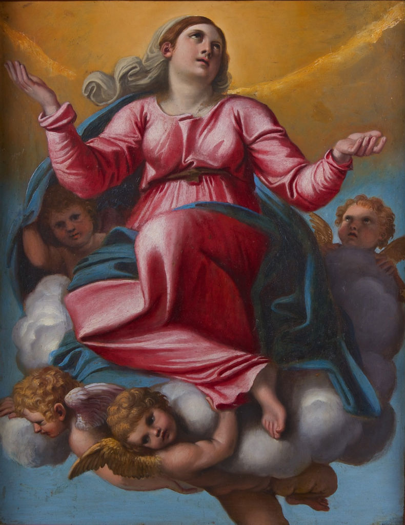 The Assumption of the Virgin, Follower of Domenico Zampieri, called Domenichino (1581-1641).