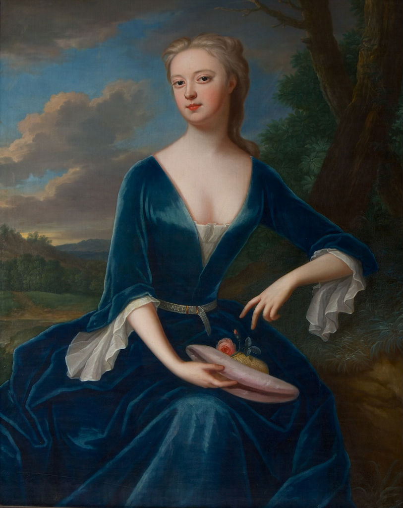 Portrait of Hannah Sophia Chambers, wife of Brownlow, 8th Earl of Exeter, Maria Verelst (1680-1744).