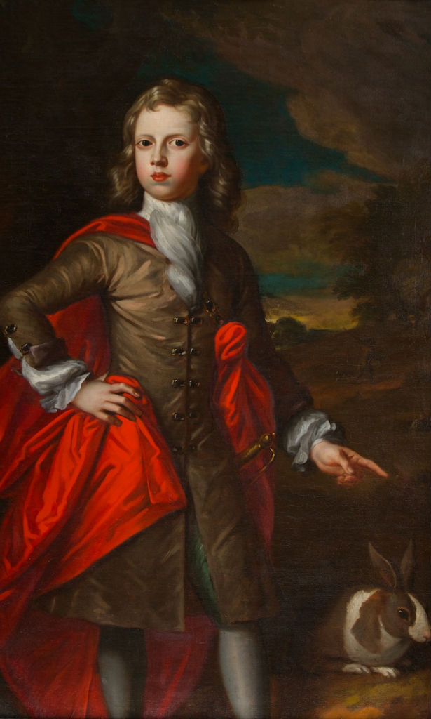 Portrait of John, 7th Earl of Exeter (1700-1722), when a boy, Simon Du Bois, (1632-1708).
