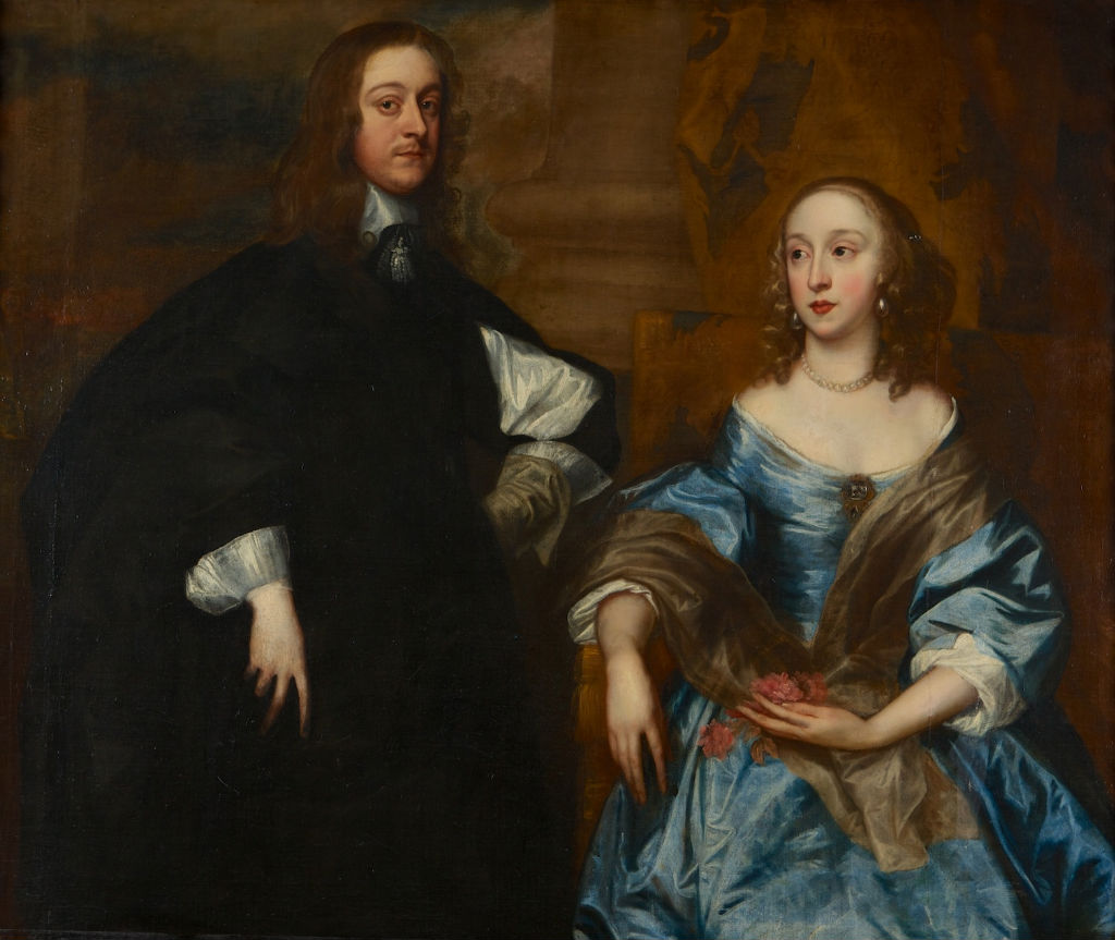 Portrait of John 4th Earl of Exeter (1628-1677) with his first wife, Frances Manners, Follower of Sir Anthony Van Dyck (1599-1641).