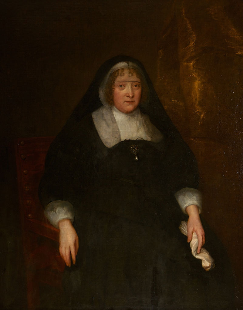 Portrait of Frances, second wife of Thomas, 1st Earl of Exeter, Attributed to Jonathan Richardson (1667-1745), after Sir Anthony Van Dyck (1599-1641).