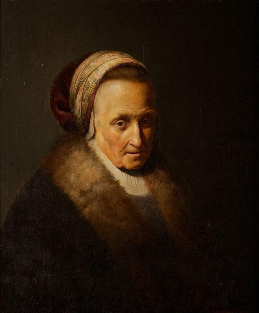 A Portrait of a Lady, 18th Century Follower of Rembrandt (1606-1669).