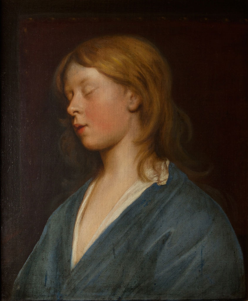 The Hon. Charles Cavendish, when Asleep, Attributed to Mary Beale (1633-1699).