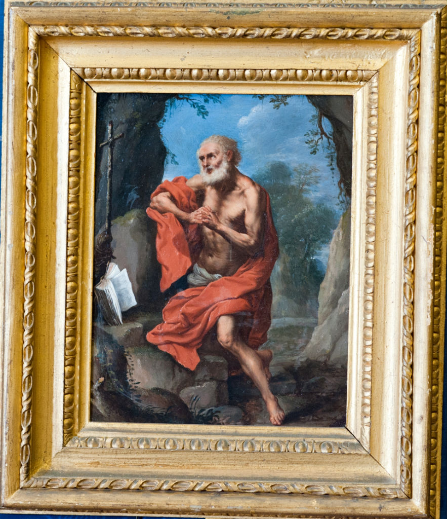Saint Jerome in the Wilderness, Follower of Guido Reni (1575-1642).