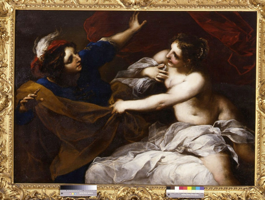 Joseph and Potiphar's Wife, Valerio Castello (1624-1659).
