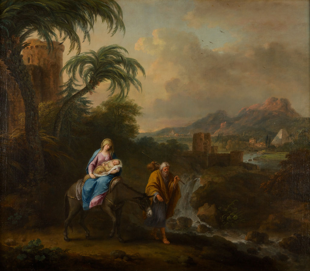 The Flight into Egypt, Francesco Zuccarelli, R.A. (1702-1788).