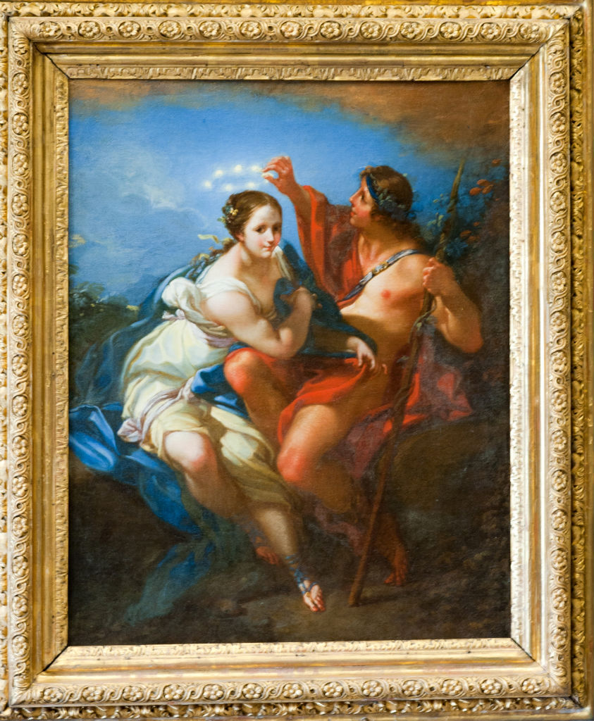 Bacchus and Ariadne, Benedetto Luti (1666-1724).