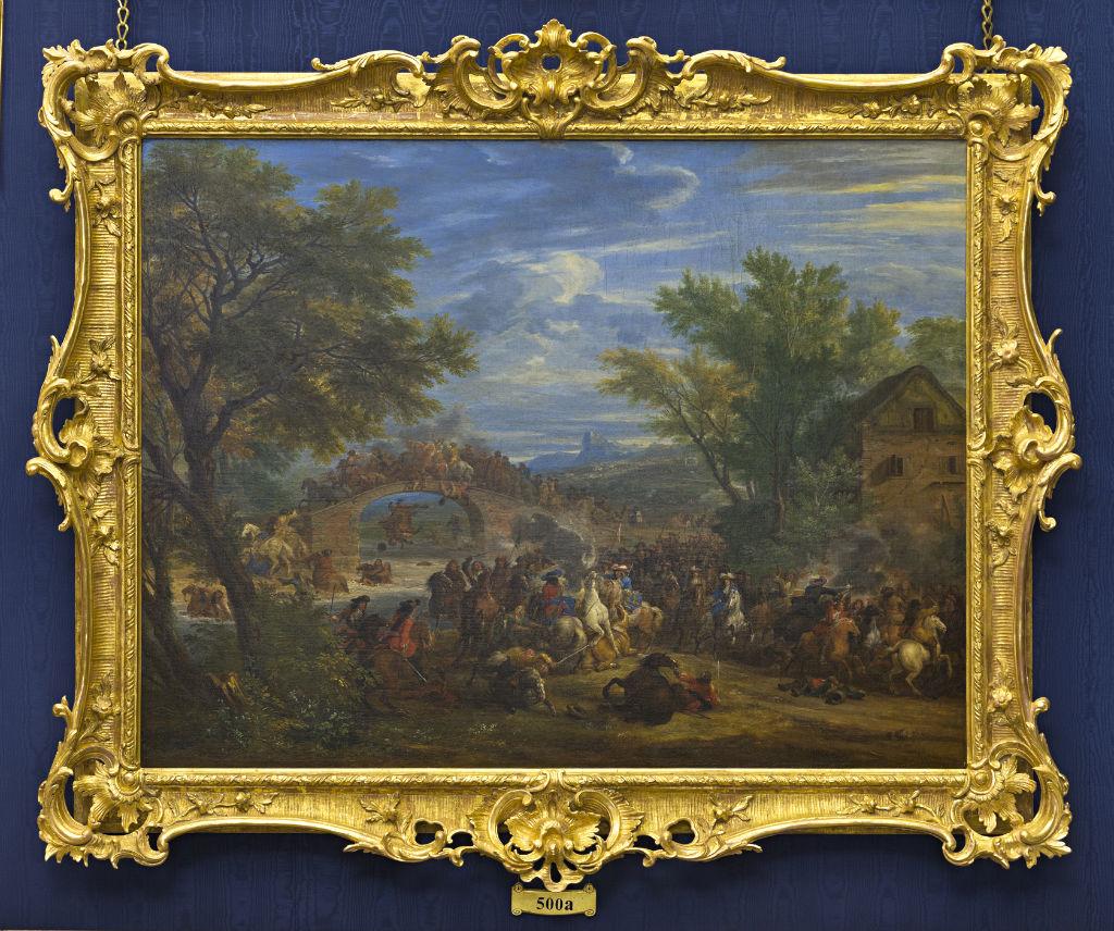A Cavalry Engagement, Adam Frans van der Meulen (1632-1690).