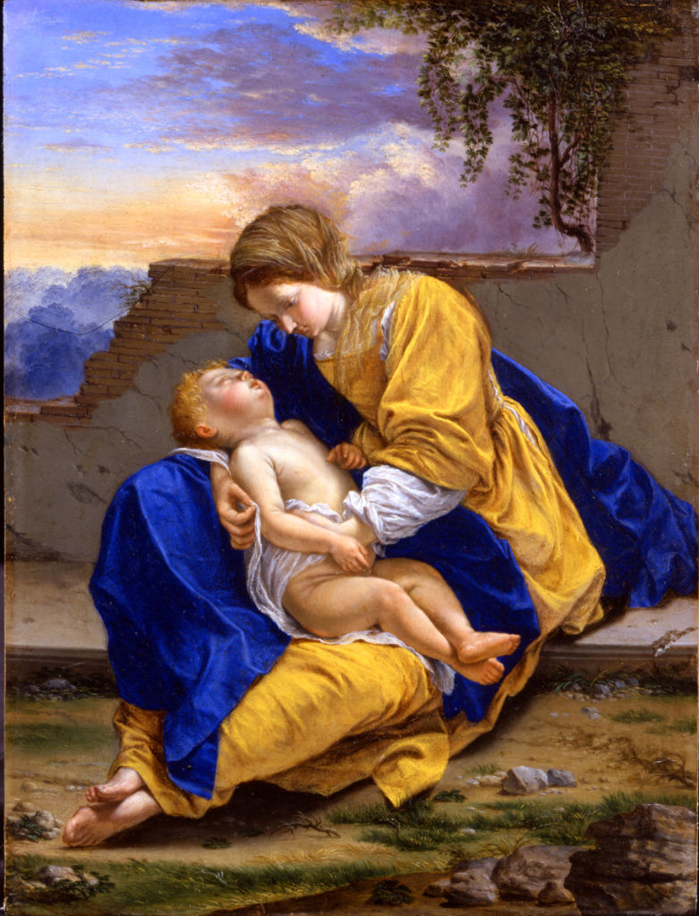 The Virgin and Child in a Landscape, Orazio Gentileschi (1563-1639).