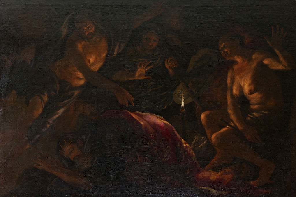 Saul and the Witch of Endor, Antonio Zanchi (1631-1722).
