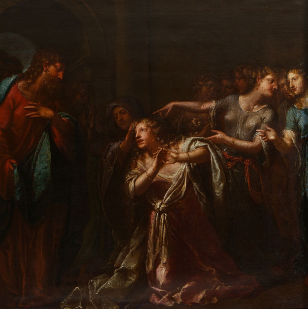 Christ's Appearing to Mary Magdalene, Attributed to Pietro Liberi (1605-1687).