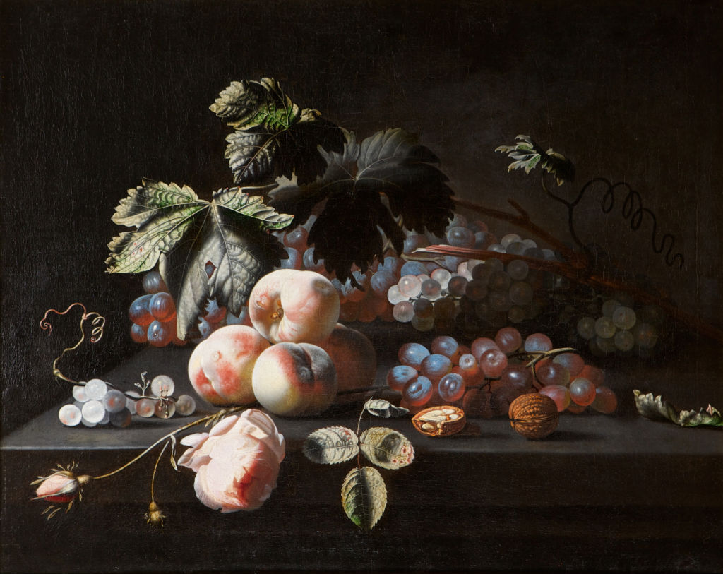 A Still Life of Fruit, Simon Verelst (1644-1710).