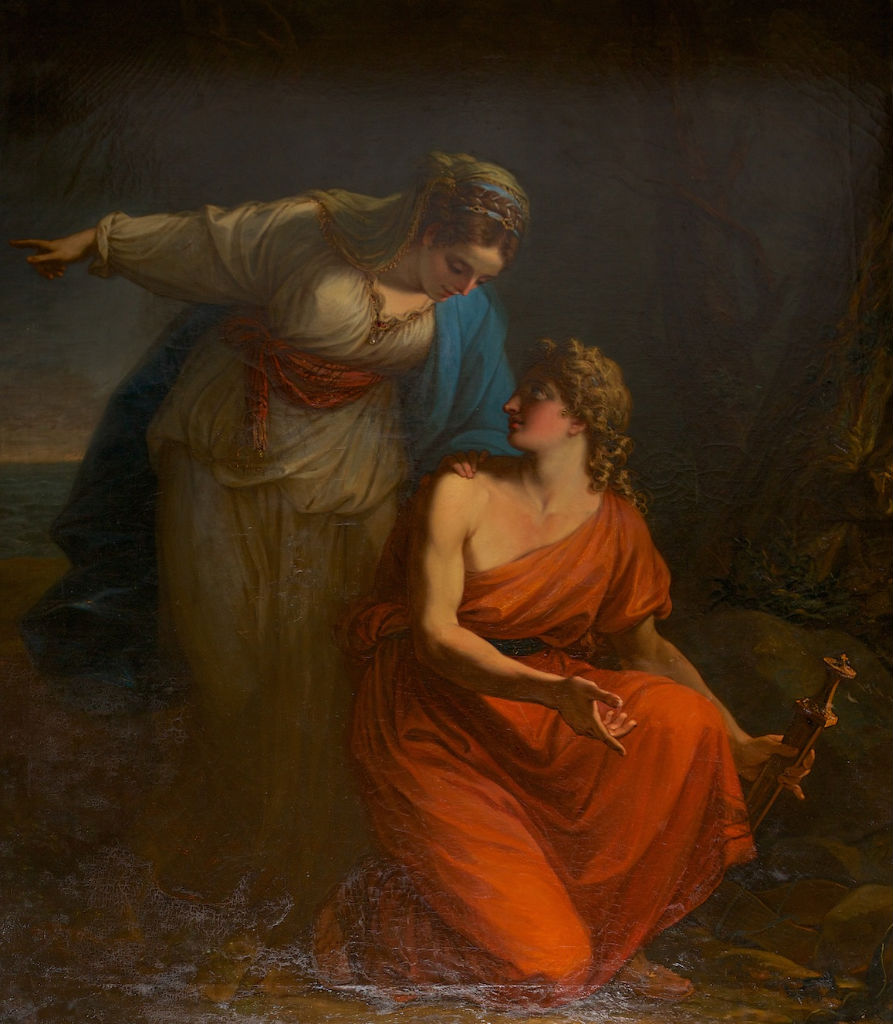 Aethra and Theseus, Angelica Kauffman, R.A. (1741-1807).