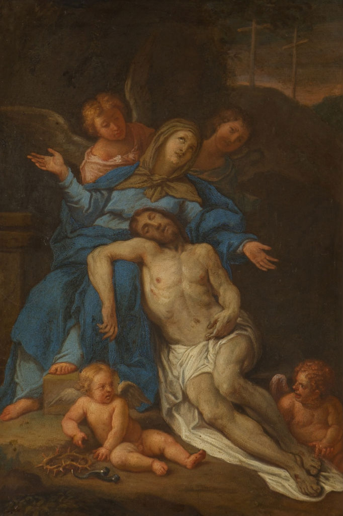 The Mourning Over the Dead Christ, Attributed to Pietro di Pietri (1663-1716).