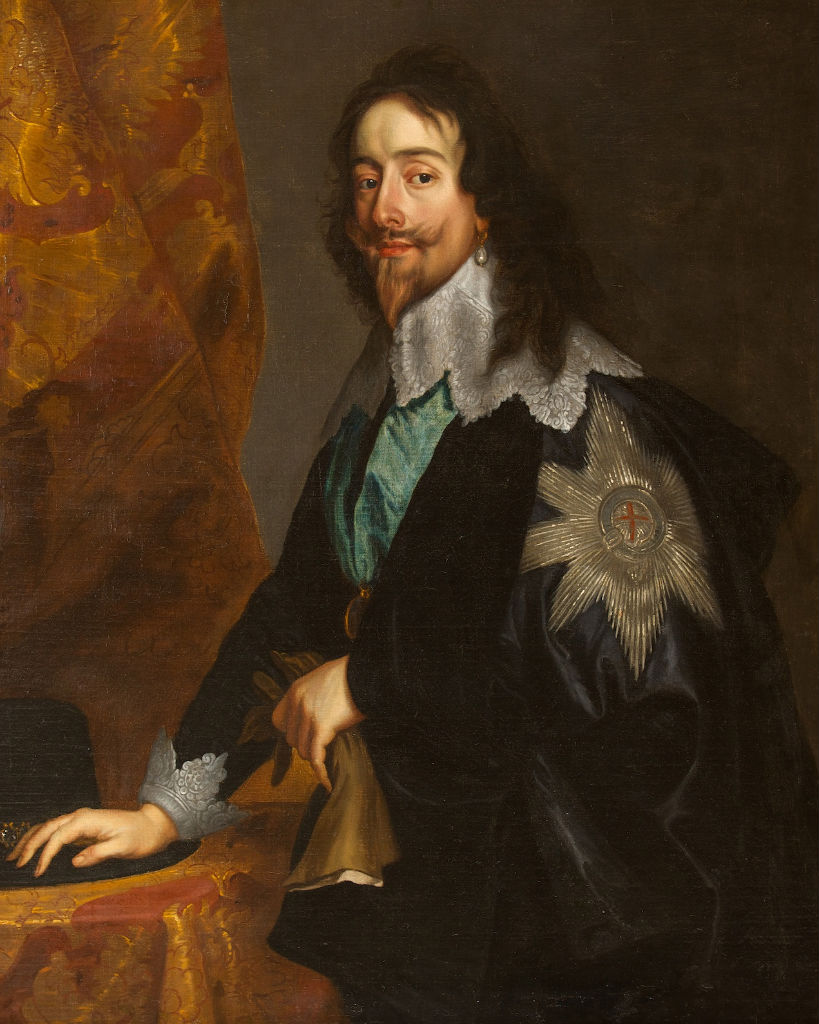 A Portrait of King Charles I, After Sir Anthony Van Dyck (1599-1641).