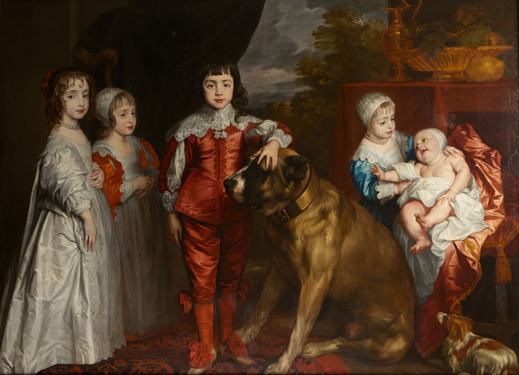 Portrait of the Children of King Charles I, After Sir Anthony Van Dyck (1599-1641).