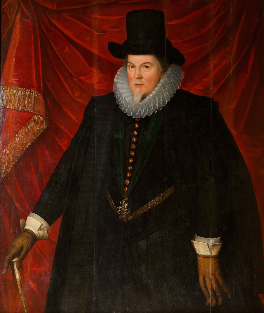 Portrait of Thomas, 1st Earl of Exeter (1542-1622), Circle of Marcus Gheeraerts the Younger, (1561-1636).