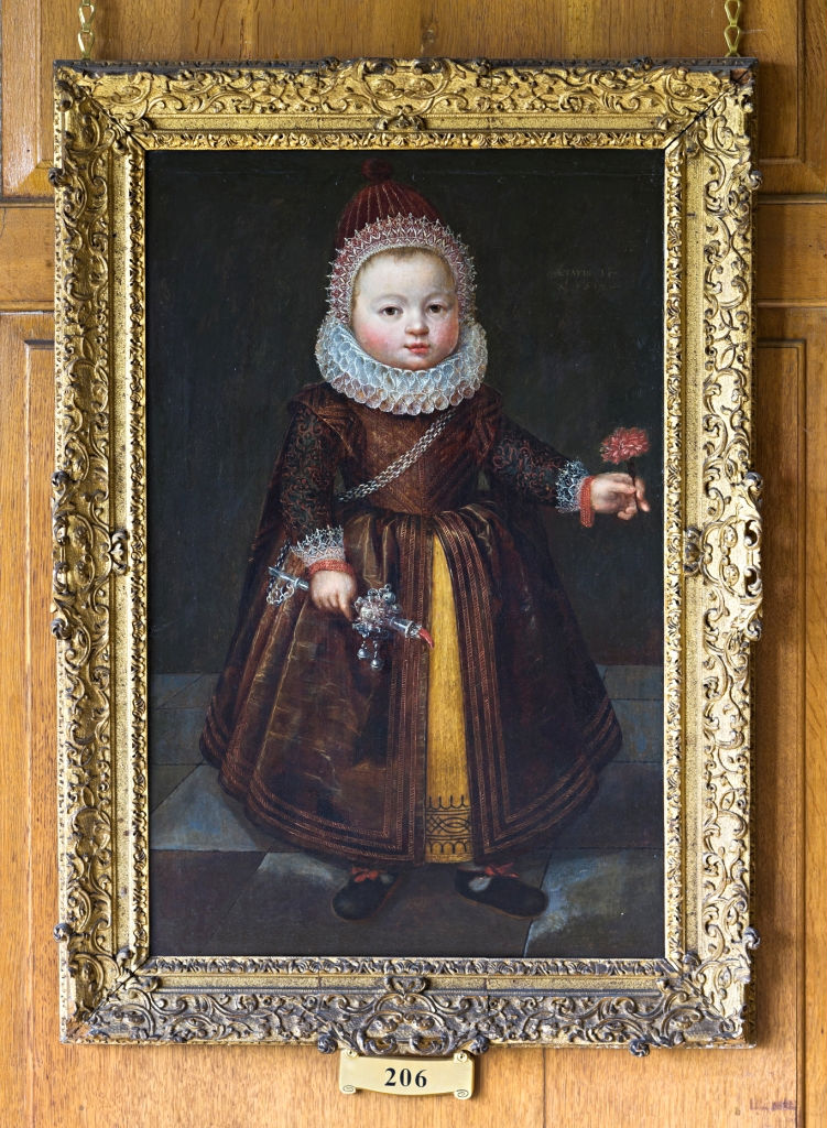 Portrait of a Child said to be Lady Georgianna Cecil, Circle of Wybrand de Geest (1592-1660).
