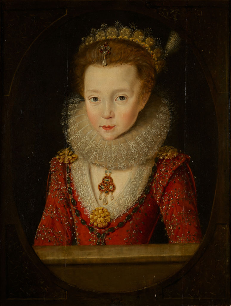 Portrait of a Girl, Circle of Robert Peake the Elder, (1551-1619).