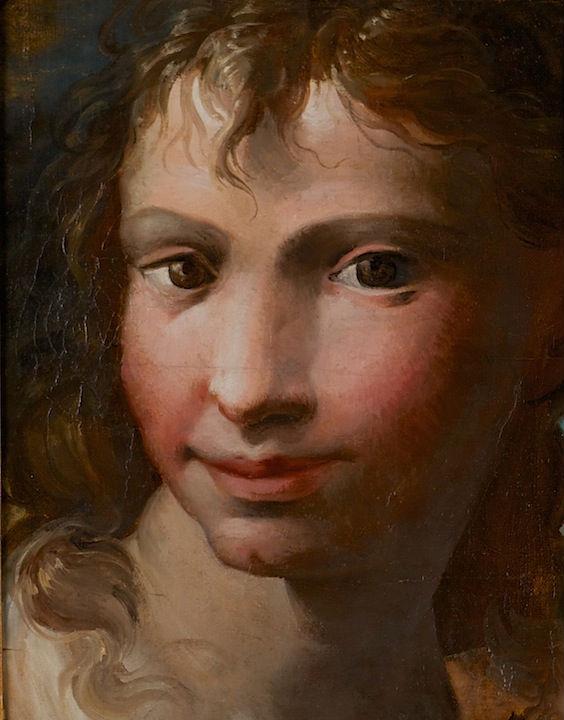 A Head, Follower of Parmigianino (1503-1540).