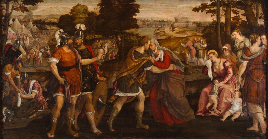 Coriolanus and the Roman Matrons, Antonio Palma (1510-1575).