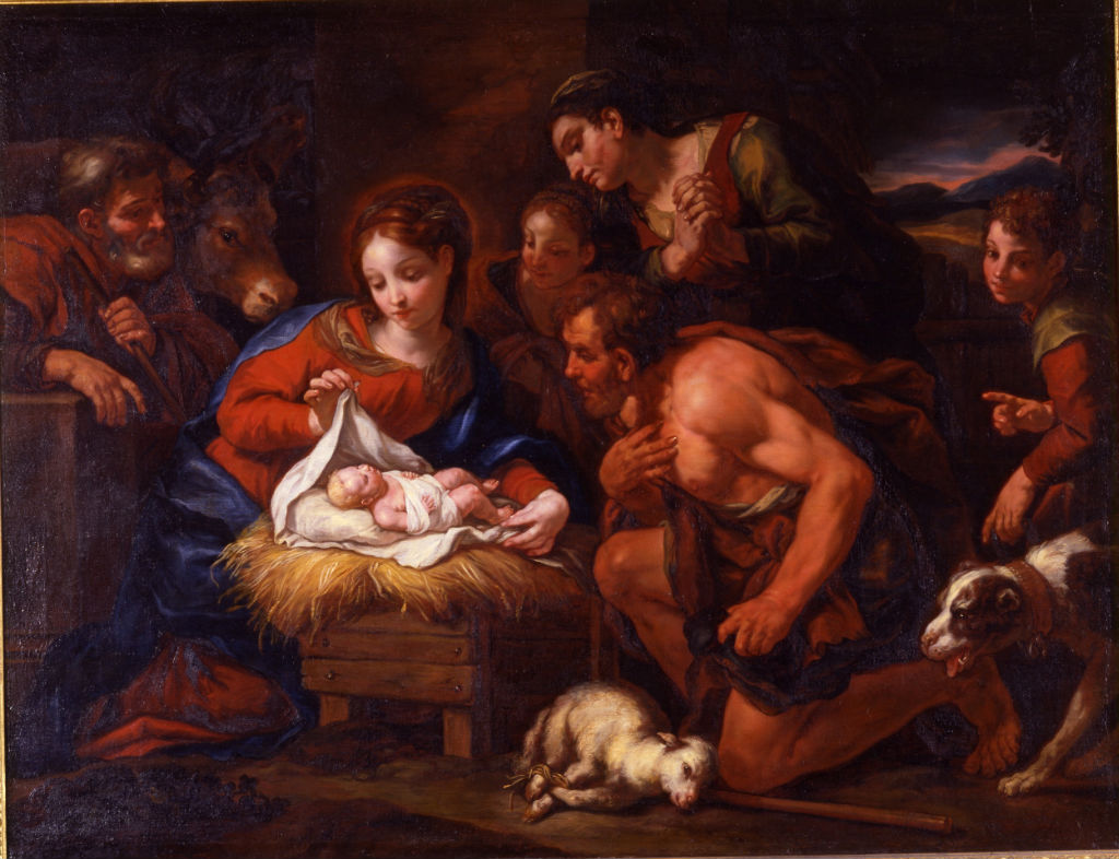 The Adoration of the Shepherds, Johann Carl Loth (1632-1698).