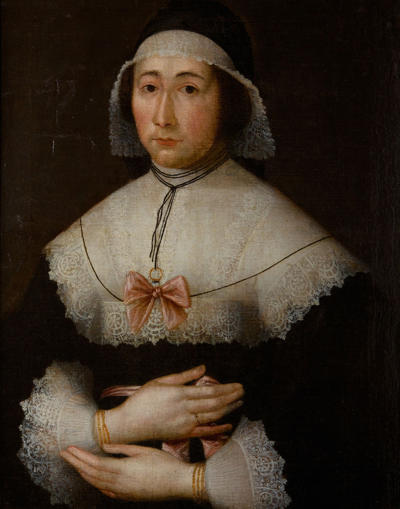 A Portrait of an old Lady, Anglo-Dutch School, circa 1630.