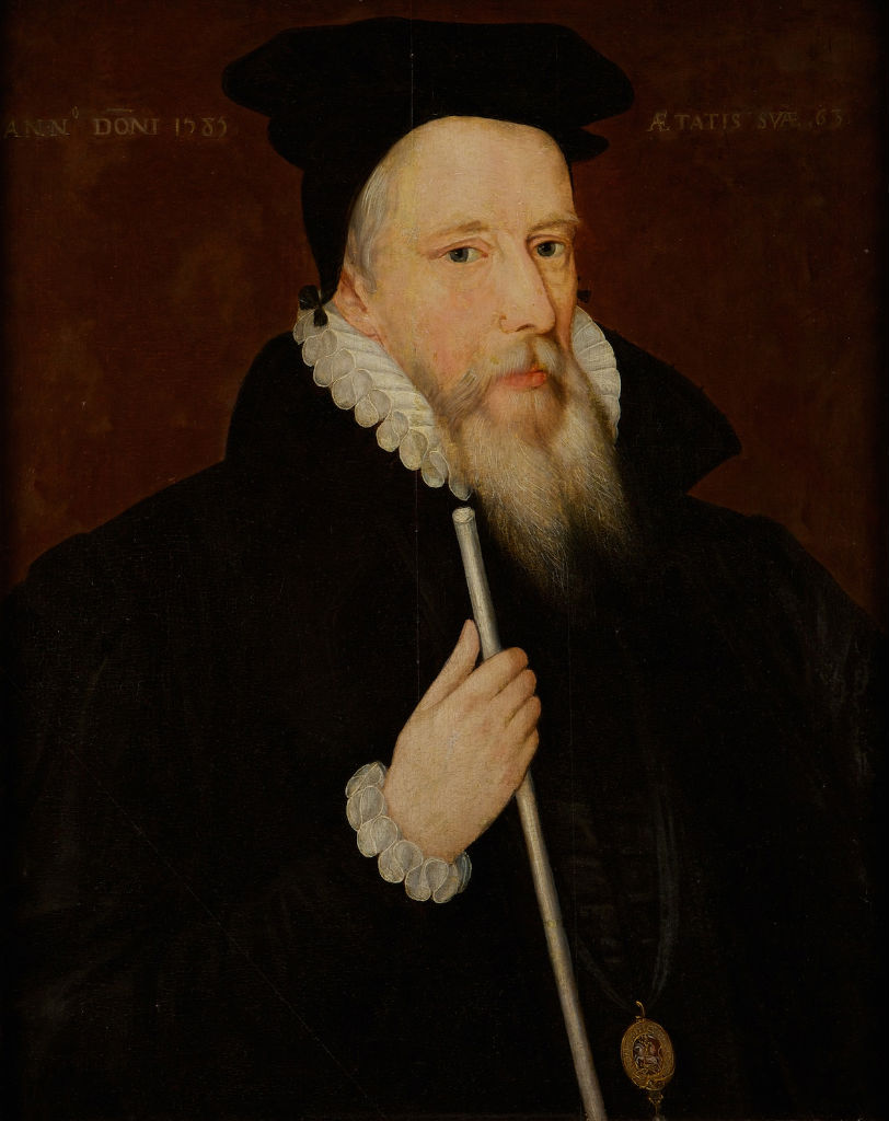 Portrait of William Cecil, 1st Lord Burghley, (1520-1598), English School, 16th Century.