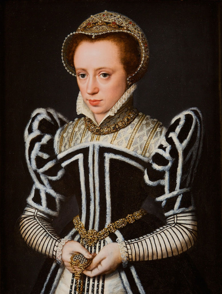 Portrait of a Tudor Lady in a Rich Costume, Flemish School, early 1570's.