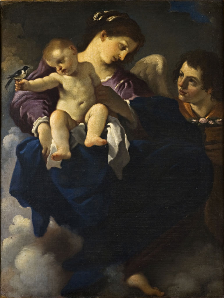 The Virgin, Child and an Angel, Antonio Gabbiani (1652-1726) after Guercino (1591-1666).