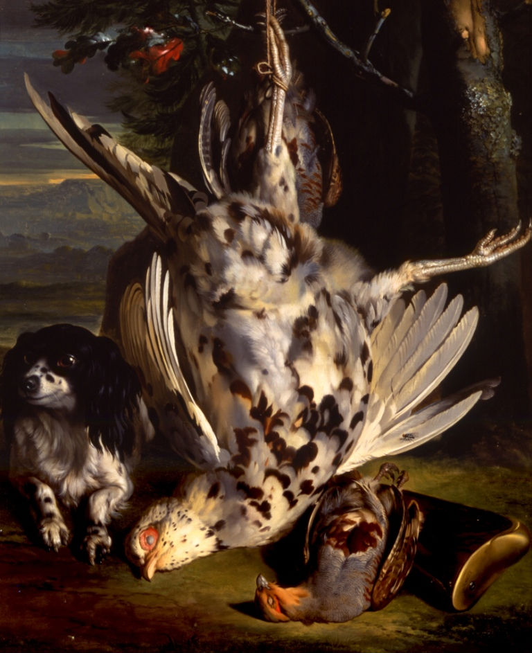 A Spaniel with Game, Hermann van der Mijn (1684-1741).