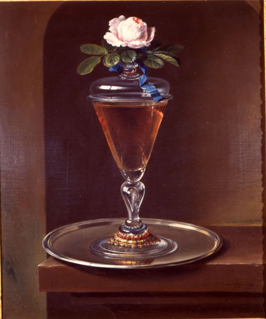 A Rose and Glass, Hermann van der Mijn (1684-1741).