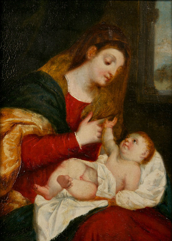 The Virgin and Child, The Rev. Matthew Peters, R. A. (1742-1814), after Titian (1485-1576).