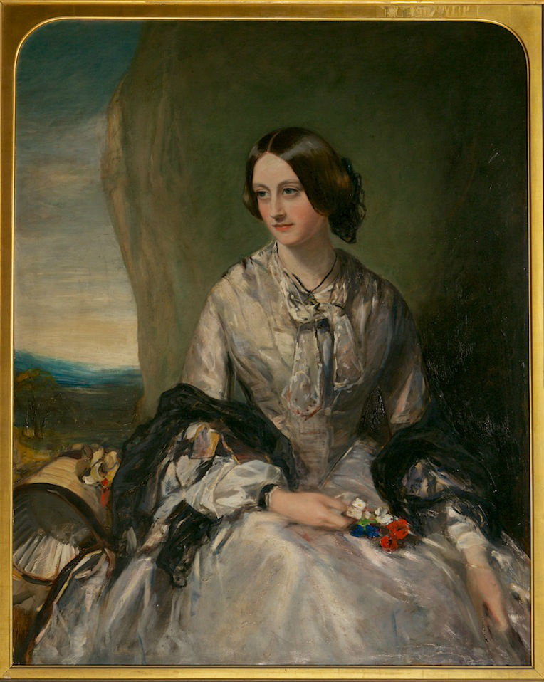 A Portrait of Lady Georgiana Pakenham, Marchioness of Exeter, James Rannie Swinton (1816-1888).