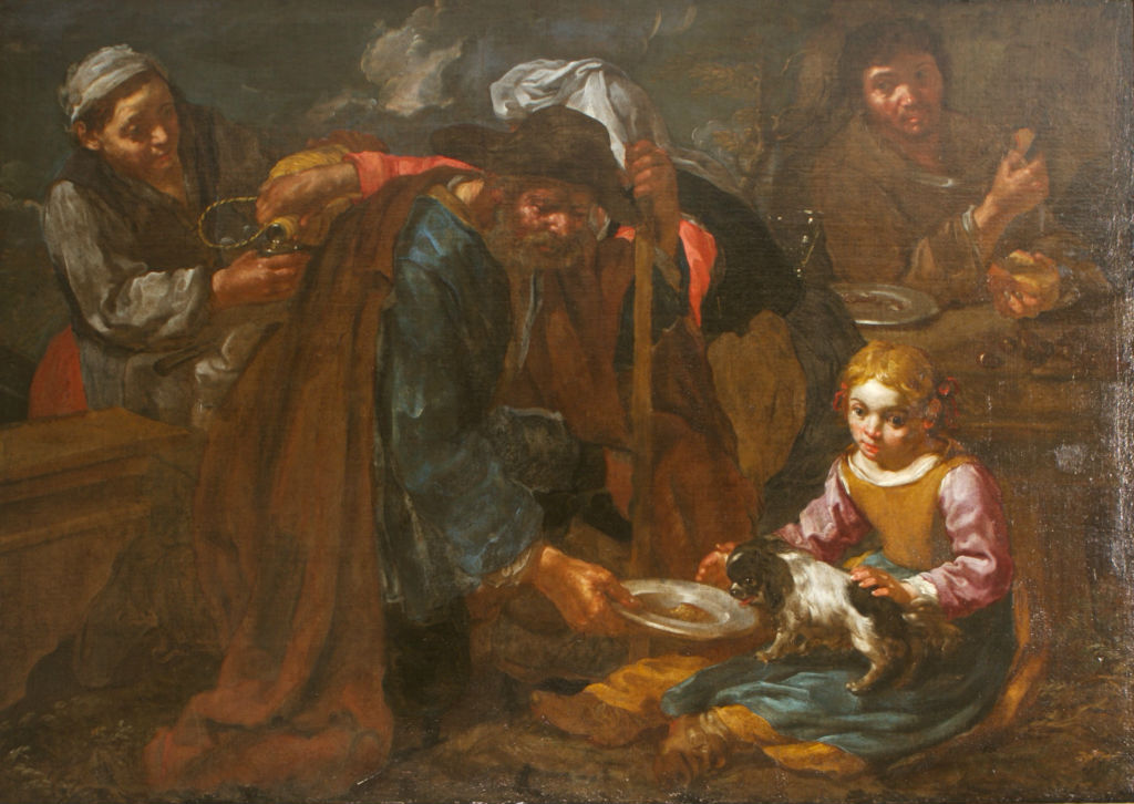 Peasants Eating, Bernhard Keil called Monsu Bernardo (1624-1687).